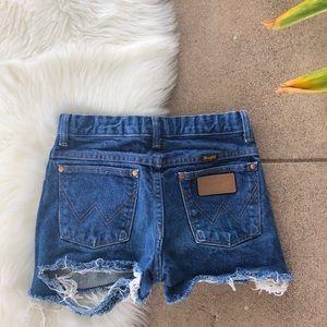Distressed Wrangler Shorts